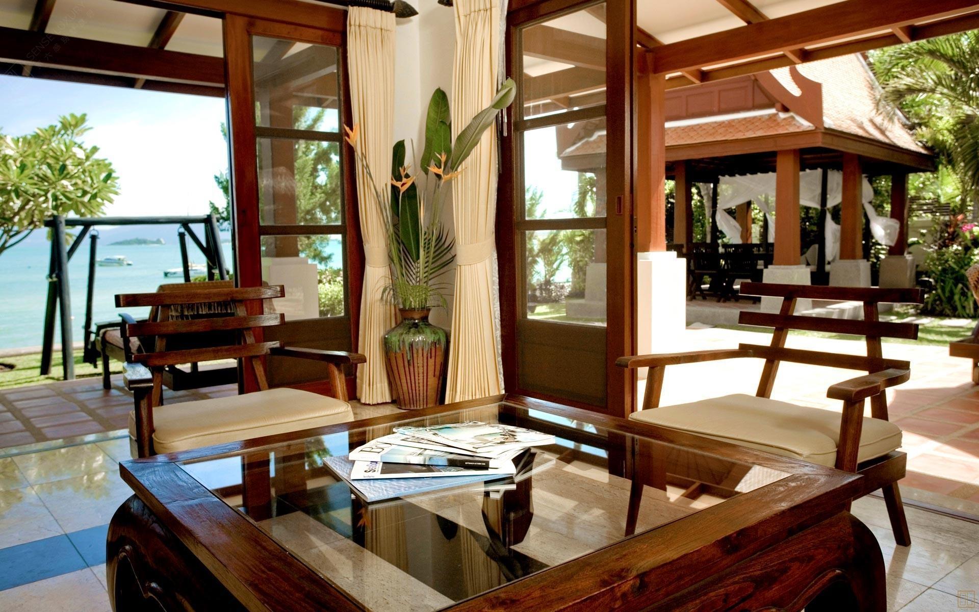 泰国苏梅岛密斯卡湾罗望子别墅客厅