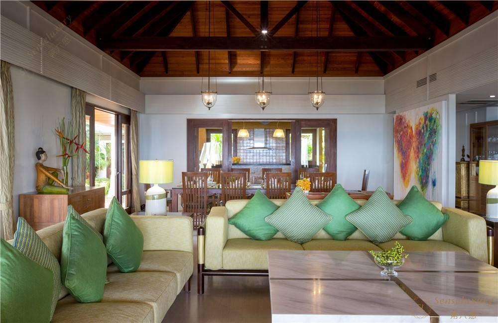 泰国苏梅岛密斯卡湾九重葛别墅客厅内景
