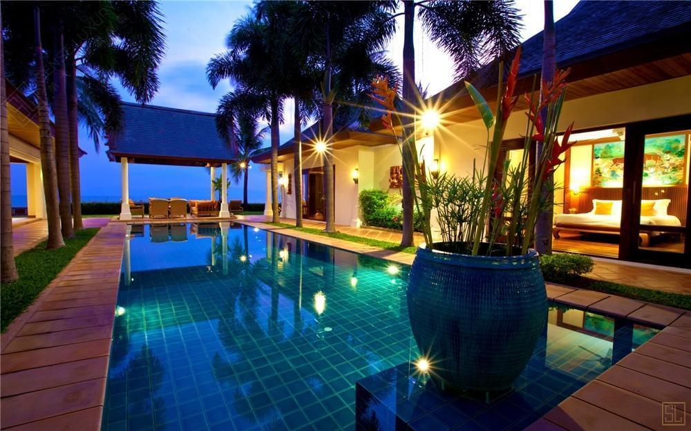 泰国苏梅岛密斯卡湾黄兰别墅独立泳池