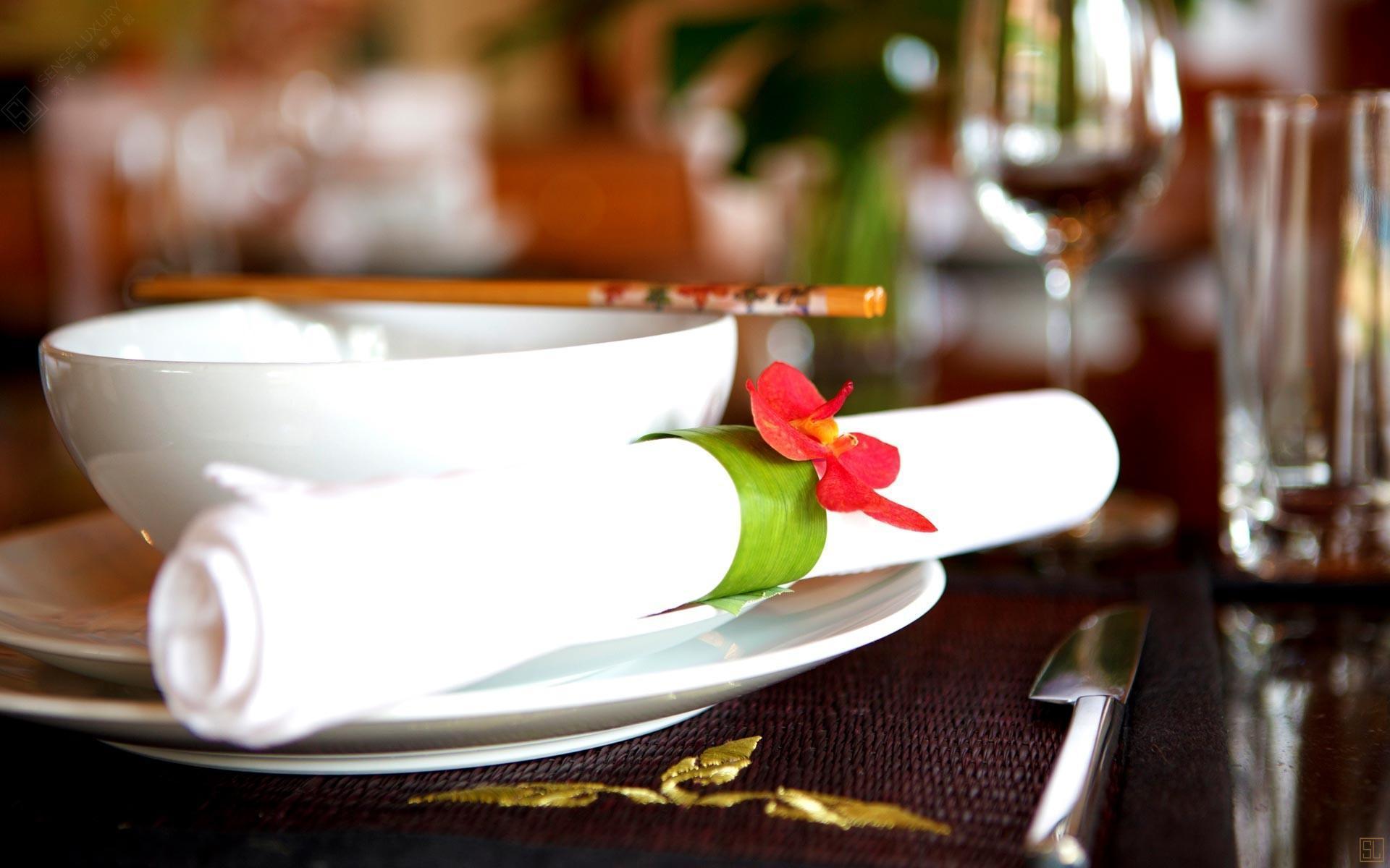泰国苏梅岛密斯卡湾黄兰别墅餐巾