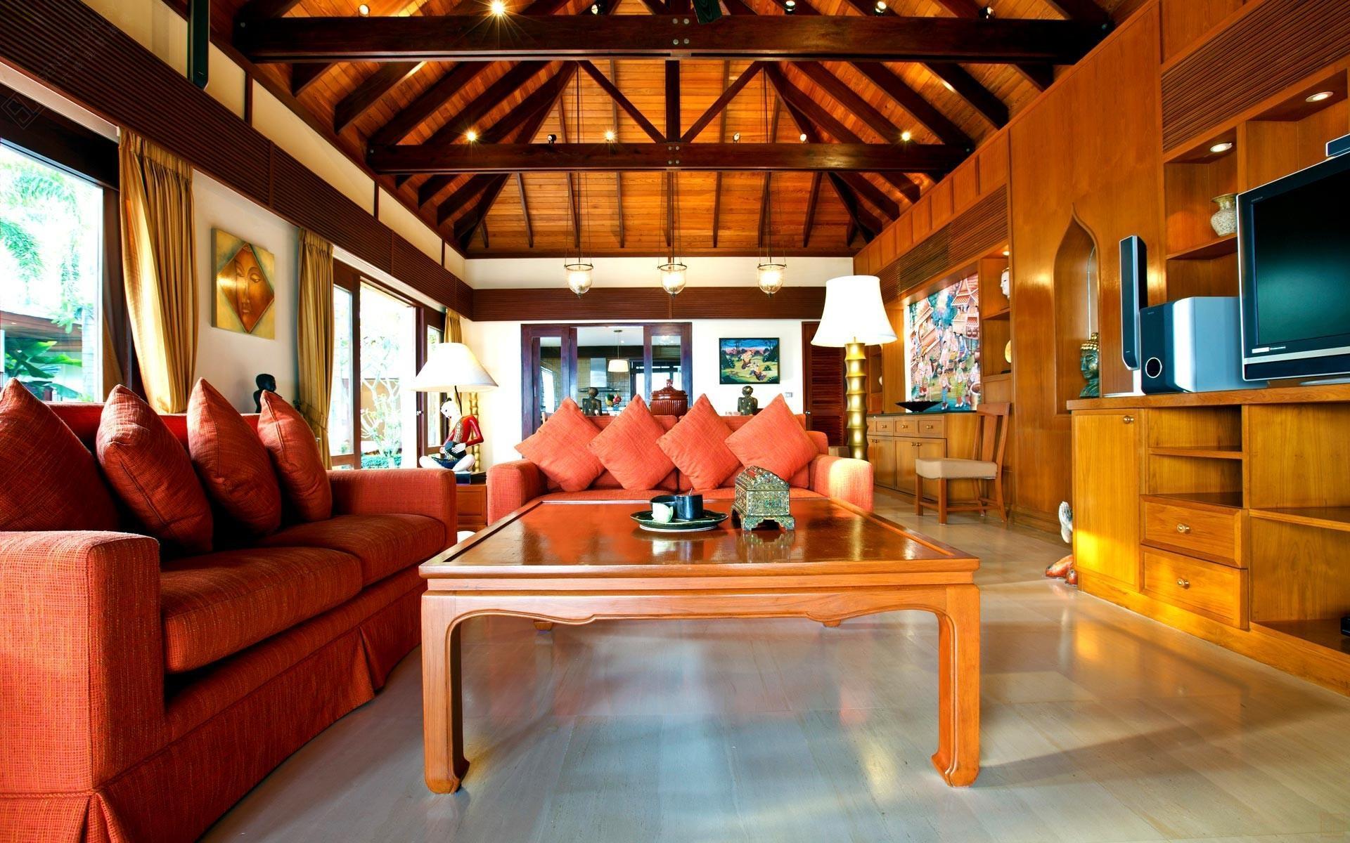 泰国苏梅岛密斯卡湾黄兰别墅客厅内景