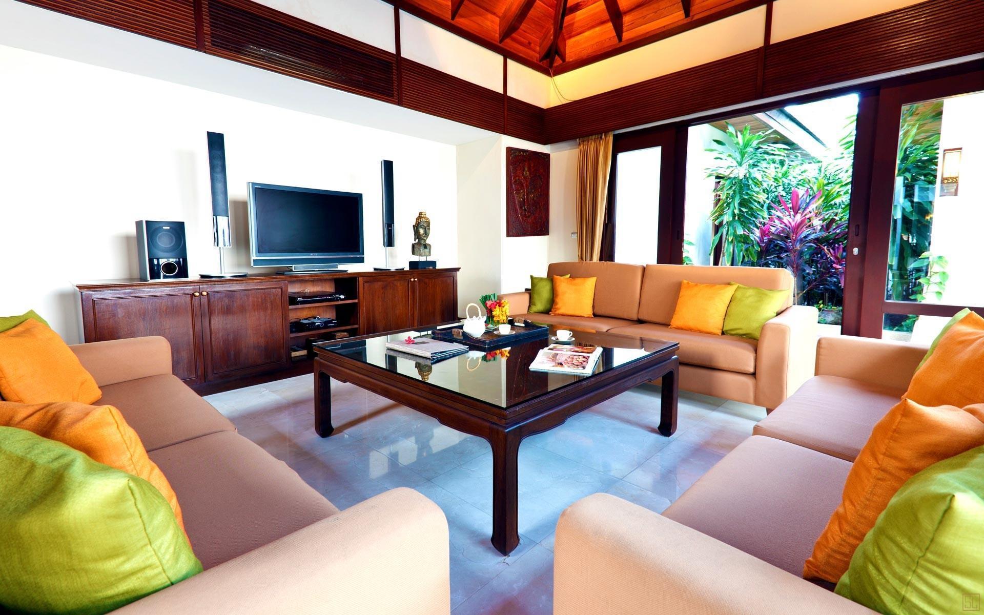 泰国苏梅岛密斯卡湾素馨别墅客厅内景