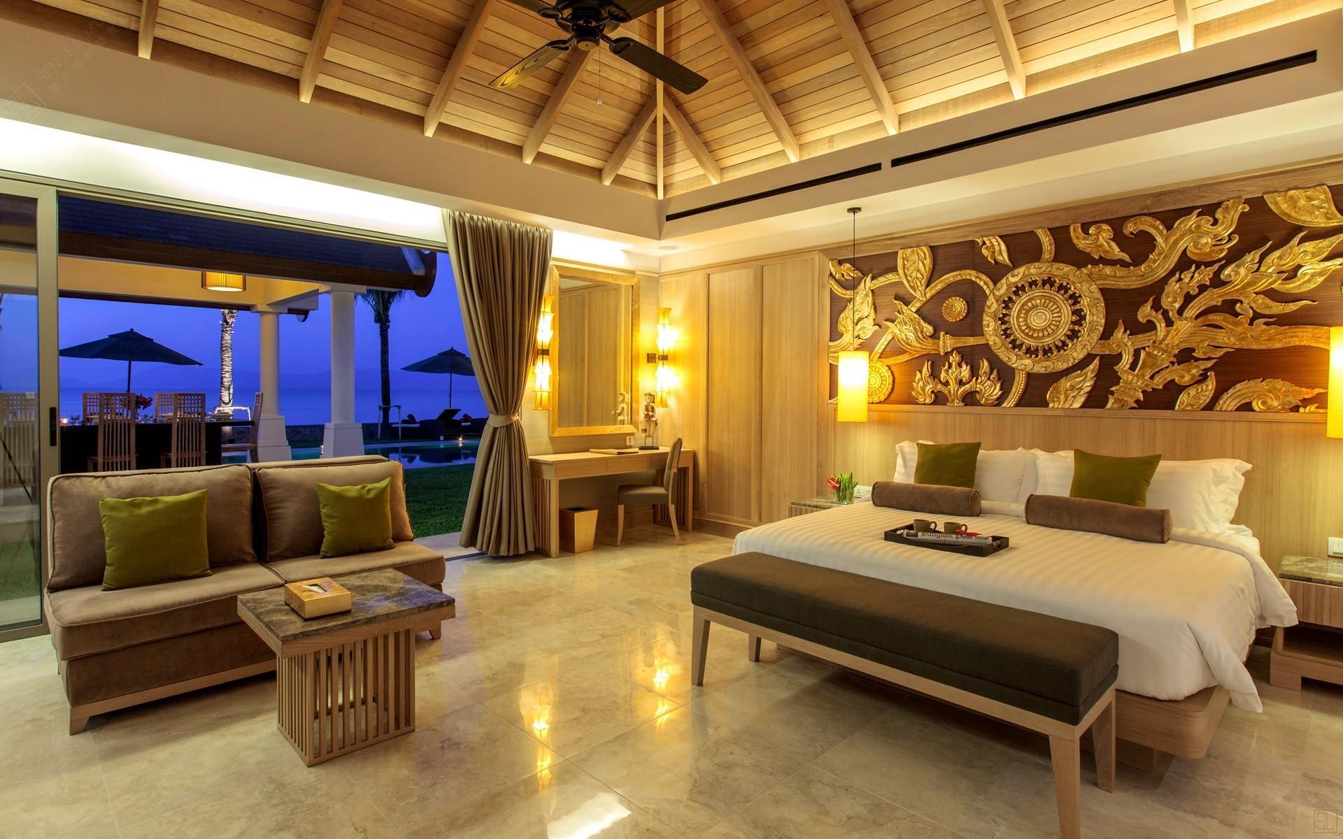 泰国苏梅岛密斯卡湾西拉别墅卧室