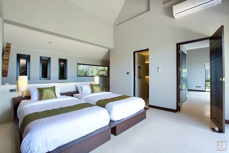 泰国苏梅岛月影别墅卧室布局