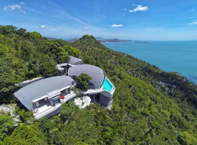 泰国苏梅岛月影别墅俯瞰