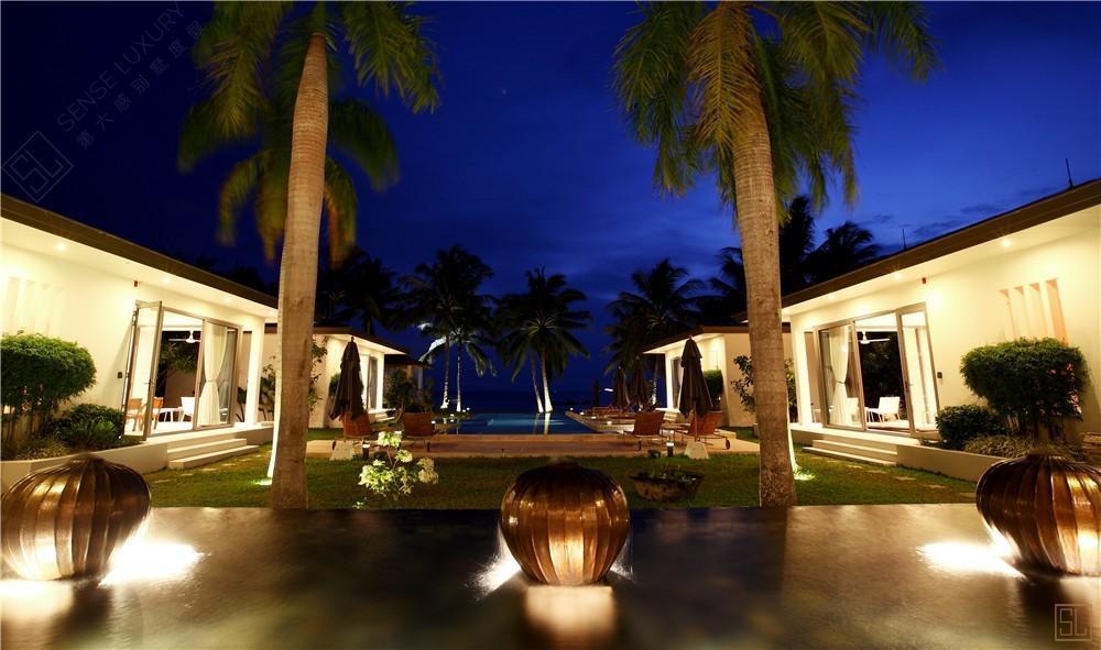 泰国苏梅岛艾珊别墅夜景