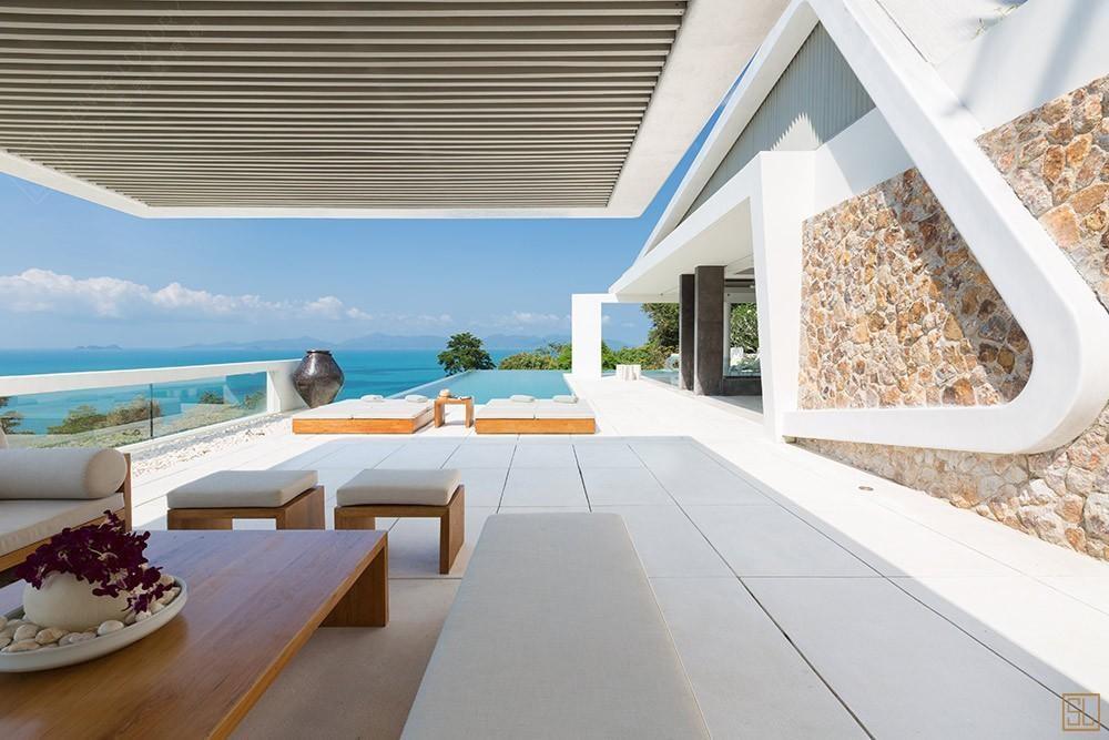 泰国苏梅岛青瓷别墅遮阳台
