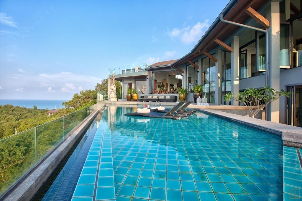 泰国苏梅岛天幕别墅山景