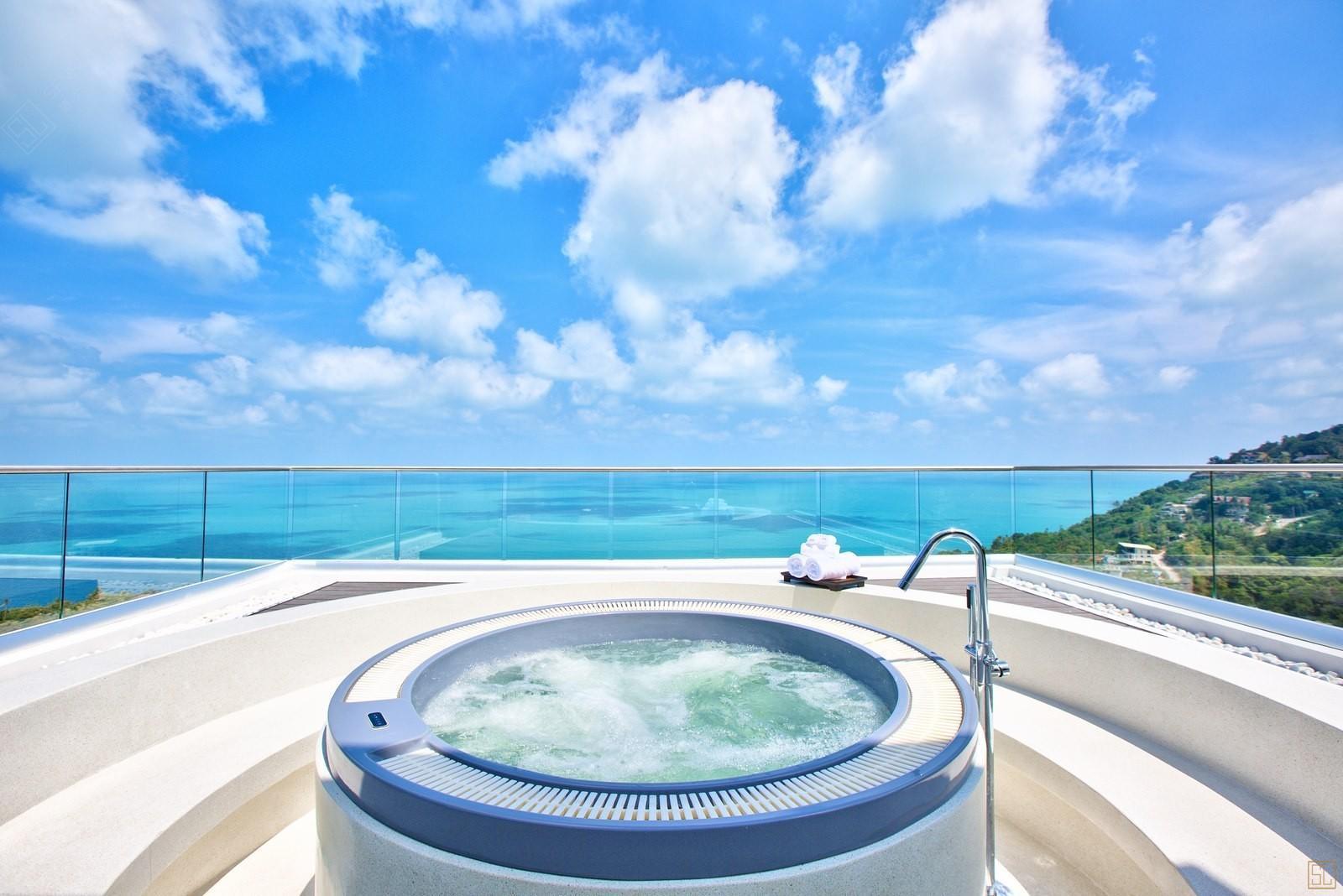 泰国苏梅岛萨瓦蒂别墅浴缸