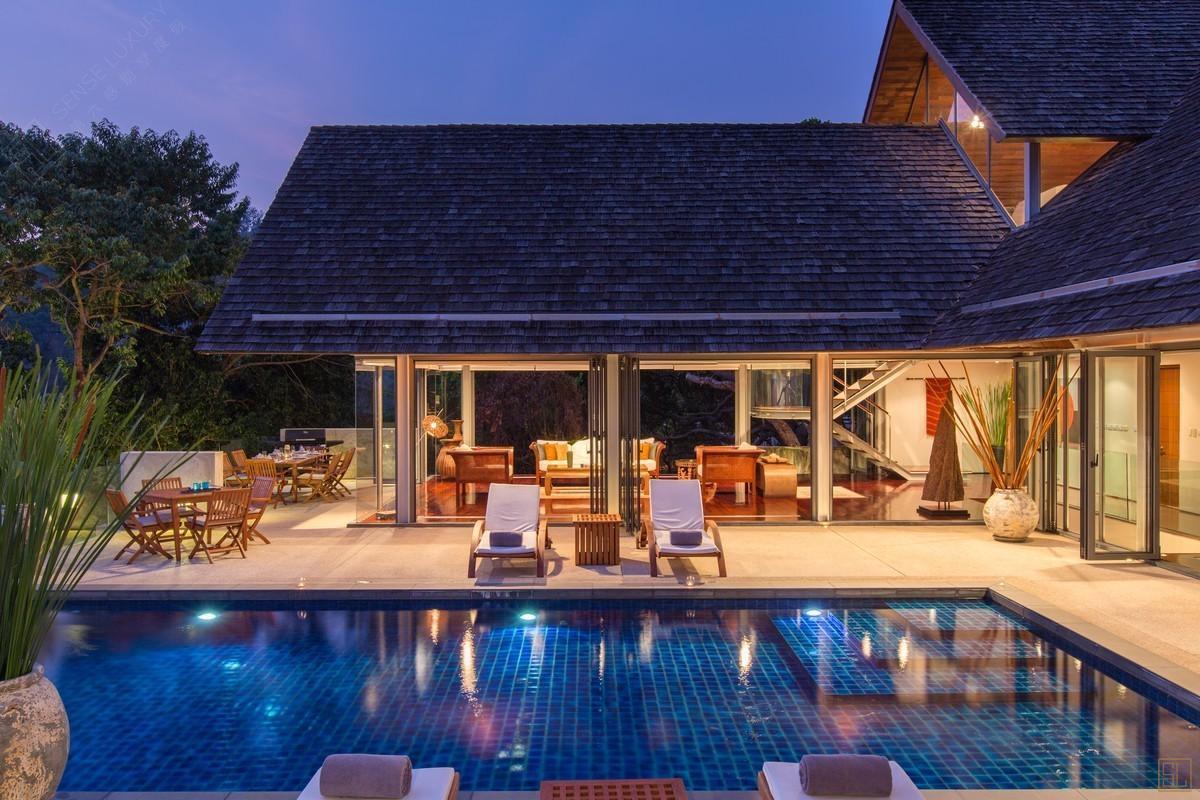 泰国普吉岛萨姆萨拉-洛梦池别墅休息区