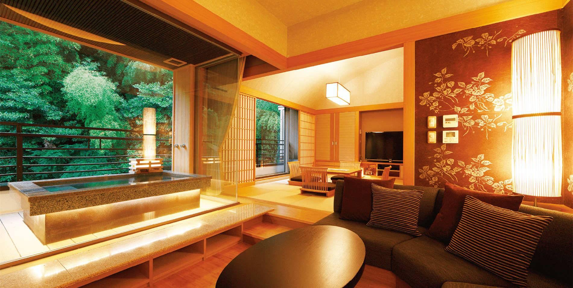 日本箱根 花纹旅馆在山间品鉴古韵魅力