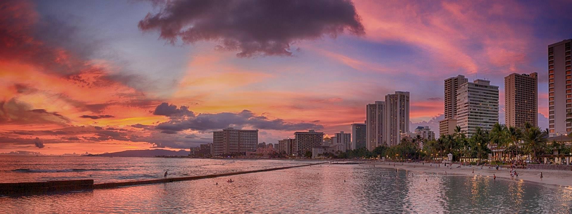 夏威夷,欧胡岛微笑岛屿,欢乐暑假